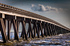 San Luis Bridge (Mabry Campbell) Tags: morning bridge sky usa seascape water photography coast us photo waves texas unitedstates unitedstatesofamerica august coastal photograph 100 f28 saltwater 2012 waterscape surfside 200mm surfsidebeach sanluispass ef200mmf28liiusm brazoriacounty sec mabrycampbell august42012 201208042926