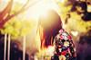 (Amanda Mabel) Tags: park light sunset portrait sun sunlight tree fashion vintage hair spring bright bokeh lensflare mura blazer flowery amandamabel muraboutique