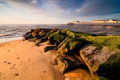 Pier (Dusty V) Tags: uk morning sky seascape beach clouds sunrise landscape rocks angle wide tokina peir groynes d90 dustyv southwoldnikon