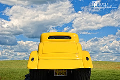 Yellow in field (Dennis Cluth) Tags: hot art car composite rod custom dragster