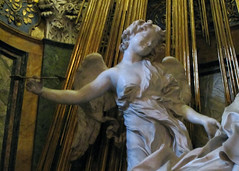 Bernini, Angel, Ecstasy of Saint Teresa, Cornaro Chapel, Santa Maria della Vittoria
