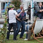 Camera crew in the Gardens