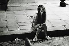Lonely Child (EyesOfCinematic) Tags: street paris night noiretblanc young concorde rue rousse toureffeil effeil esthtique