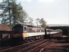47702 1T32 1508 Aberdeen - Glasgow Queen Street at Glaneagles 06.05.1989 (The Cwmbran Creature.) Tags: pull rail scotrail class push british 47 gleneagles 477 shoves