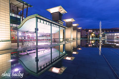At-Bristol, United Kingdom. (Chris Bailey Photographer) Tags: bristol atbristol uk reflection bristolcity bluehour canon city cityscape water feature outdoor night summer twilight longexposure southwest citycentre frome chrisbailey photography photographer lights waterfront bristolwaterfront bluehourphotography clouds sky landscape sunset at bristoluk