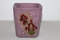 JARRN VIOLETA  HECHO DE CERA (ilmiomondoincera) Tags: navidad casa artesanal regalo cera violeta jarron menta decoracion