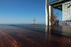 Summer Wine (Maria Michalinos-www.debop.gr/deBlog/the-athenians) Tags: summer holiday glass wine pergola balcony terasse sky blue sea greek island greece beautiful canoneos7d ilobsterit wtbw depth field dof