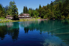 Blausee Restaurant! (kekaneshrikant) Tags: blausee summer hot sunny 2016 canon 1585 july switzerland restaurant