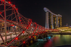 Helix Bridge (andreasmally) Tags: helix bridge singapore marina bay sands night