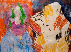 Delirious (giveawayboy) Tags: crayon drawing sketch art acrylic paint painting fch tampa artist giveawayboy billrogers delirious dream