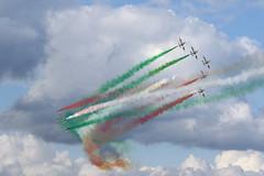 Italian Frecce Tricolori (Chris*Bolton) Tags: italianfreccetricolori air planes display sky clouds airforce bray wicklow ireland italy