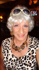 Telltale Signs Of Age (Laurette Victoria) Tags: face silver laurette woman necklace earrings sunglasses animalprint