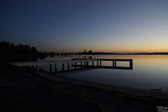 0D6A3122 - Squids Ink Jetty Sunset (Stephen Baldwin Photography) Tags: sunset lake macquarie squids ink water sun foreshore hills reflection jetty cliche