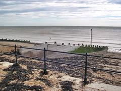 Kingsdown -Kent (jcbkk1956) Tags: kingsdown kent eastkent nikon coolpix4300 beach seafront seaweed railings seaside fishing groyne worldtrekker seascape englishchannel