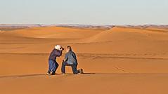 Don't Shoot (Ellsasha) Tags: desert sahara sand dunes travelers photographer northafrica horizon