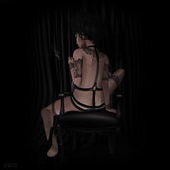 ca|185 ( ) Tags: sl secondlife woman pixel fashion photography art fetishfair2016 zibska whitewidow tattoo soul
