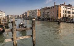 A typical day in the life of Venice on the Grand Canal