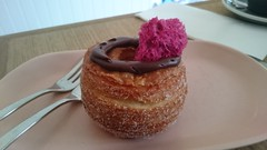 Cronut filled with chocolate raspberry mousse, beetroot sponge - Left Field, Carnegie (avlxyz) Tags: fb yum cronut croissant doughnut