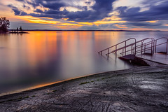 DSC_3283 (mihail.suontaus) Tags: d7100 nikon sigma water sunset rock stairs clouds nd10 long tree mirror finland tampere lightroom light red blue yellow nature