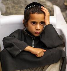 And I Wonder (ybiberman) Tags: israel jerusalem oldcity alquds jewishquarter westernwall wailingwall boy portrit kippah payot jellabiya candid streetphotography yemen contemplating