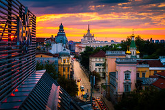 Sofia Orange Sunset (sfabisuk) Tags: sofia bulgaria sunset explore cityscape stunning travel europe