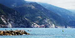 (bobbat) Tags: sea summer people rocks angler mountains monterosso monterossoalmare vernazzainthebackground cinqueterre liguriansea italia italy liguria unescoworldheritagesite nationalpark