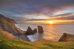 Trefor Cliffs (natalie_thomas) Tags: trefor sunset outdoor landscape seascape cliffs gwynedd wales hdr beach water coast