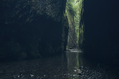 Emerald Entrance *Explore* (gwendolyn.allsop) Tags: oneonta gorge canyon green creek water