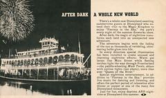 After Dark a Whole New World (Tom Simpson) Tags: vacationland vintage 1960 1960s disney vintagedisney disneyland marktwainriverboat riverboat fireworks