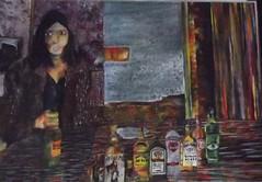 Becoming Neely self portrait (Beth sullivan fine art) Tags: neely ohara acrylic painting alcohol addiction drinking booze self portrait
