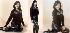 martine_mccutcheon (gitblp) Tags: leather leder cuir cuero pants trousers jeans sexy shiny martine mccutcheon
