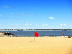 Beach is Closed Today (dimaruss34) Tags: newyork brooklyn dmitriyfomenko image sky clouds manhattanbeach beach