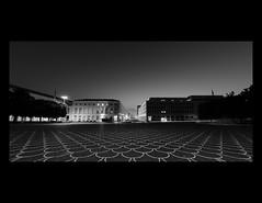From Palazzo dei Congressi (dkalise) Tags: white black roma night square nikon long exposure panoramic fisheye colosseum eur palazzo dei congressi d5100