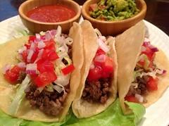 photo (Sylvia Nicosia) Tags: beef tacos guacamole salsa groundbeef picadillo molcajete