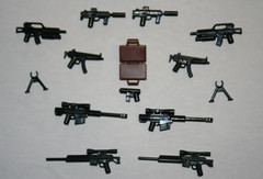 toy wiz loot (SpontaneousRaptor) Tags: sniper smg barrett mp5 barret bipod 50cal barett mp5k brickarms hcsr brickarmsmod
