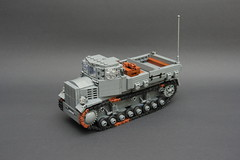 Voroschilovets -Sovjet Union- ([Stijn Oom]) Tags: lego legos artillery medium russian tanks halftrack tracked t34 s51 dutchlego voroshilovets