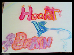 Heart VS Brain (*. Talents .*) Tags: life color art love heart