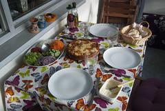 Summer Dinner on our balcony (Rudi Pauwels) Tags: summer food home dinner pie nikon sweden balcony schweden sverige nikkor suede zweden svezia d80 nikond80