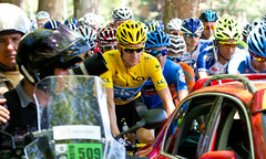 Bradley Wiggins leads the Tour de France