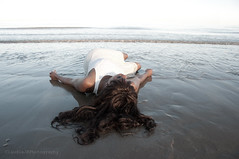Washed Up 31/52 (ClaudiaJR) Tags: sea portrait woman black beautiful up female hair long tide low ethereal dreamy washed