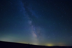 Near Moses Coulee (Frank O Cone) Tags: longexposure light sign stars waterville milkyway