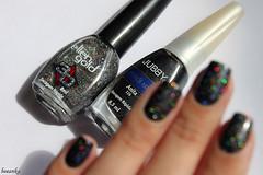 Anita, Jubby + H12, Ellen Gold (beeanka.) Tags: black glitter gray preto nails nailpolish cinza unhas grafite chumbo metlico esmalte jubby ellengold glitterhologrfico ellengoldh12 jubbyanita