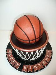 Basketball Cake by Yvonne C, Twin Cities, MN, wwwbirthdaycakes4free.com