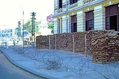 SAIGON 1965-66 -- Execution Wall across the street from Central Market. Photo by Thomas W. Johnson - Pháp trường cát (manhhai) Tags: 1966 saigon 1965