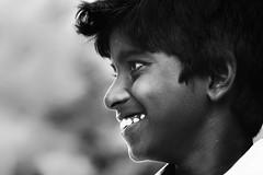 Unconditional Smile !!! (bmahesh) Tags: street portrait people blackandwhite india smile canon kid expression streetportrait 100mm canon5d chennai mahesh tamilnadu thirukazhukundram chengalpet canoneos5dmarkii canonef100mmf28lmacroisusm bmahesh