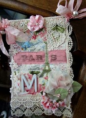 My Finished Banner (terri gordon) Tags: flowers roses paris lace banner ribbon