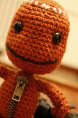 Sackboy ! (Sleepy Monday ) Tags: cute big little crochet juegos craft games videogames kawaii plushie planet amigurumi videojuegos ps3 tierno sackboy