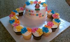 Luau Cake (dms81) Tags: birthday cake cupcakes hula lei hibiscus luau mm fondant