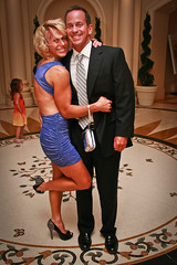 Two guests at the St. Regis (FrogMiller) Tags: party summer sexy dance highheels dancing susan formal tie suit tight stregis shortdress ocgoodlife