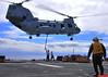 110224-N-1060K-109 (trackpads) Tags: navy pacificocean usnavy ch46seaknight amphibiousassaultship amphibiousreadygroup 13thmeu ussboxerlhd4 trackpads 13thmarineexpeditionaryunit combatcargomarines ordnancetransfer